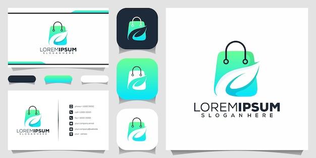 Grünes shop-logo-design