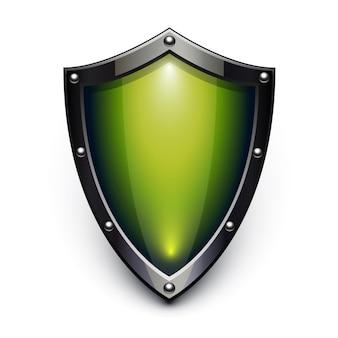 Grünes sicherheitsschild
