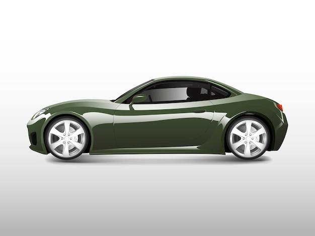Grünes sportauto lokalisiert auf weißem vektor