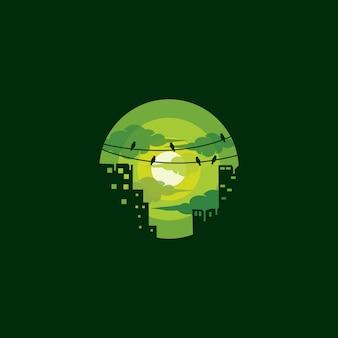 Grünes stadtlogo