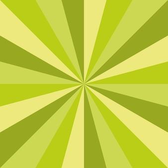 Grünes sunburst-frühlingskunstvektor-texturdesign