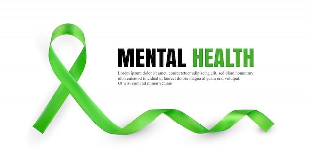 Grünes symbol für das bewusstsein für psychische gesundheit