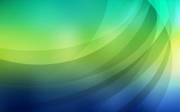 Grünes vektormuster mit gebogenen kreisen