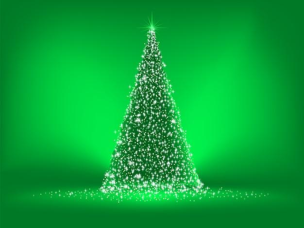 Grünes weihnachtsgrün auf grünem hintergrund.