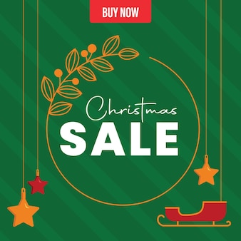 Grünes weihnachtsverkaufsplakat