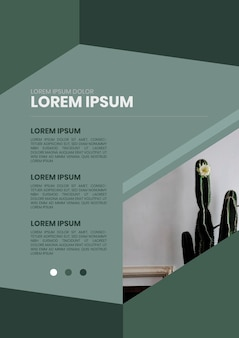 Grünes wohnplakatdesign