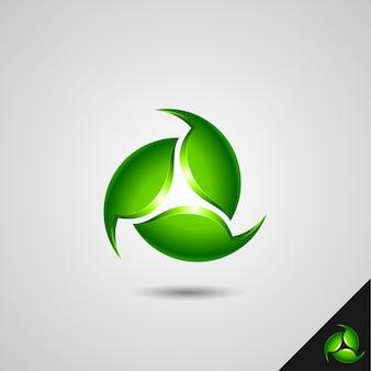 Grünes zyklus-symbol