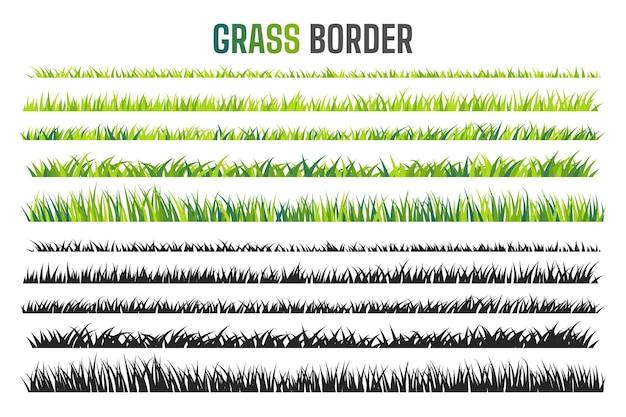 Grünland-grenzmustergrüner rasen im frühjahr das konzept der pflege des globalen ökosystems