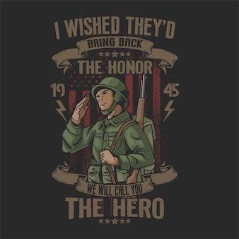 Grüße amerikanischen soldaten die helden