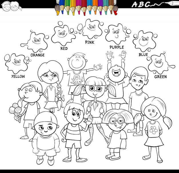 Grundfarben bildungsarbeitsblatt mit kindern