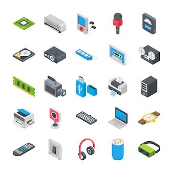 Grundlegende elektronische geräte icons