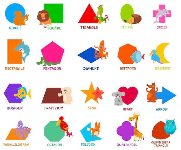 Grundlegende geometrische formen für kinder