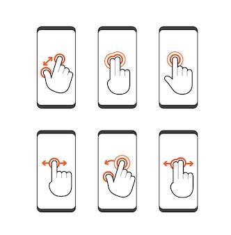 Grundlegende menschliche gesten mit modernen digitalen geräten
