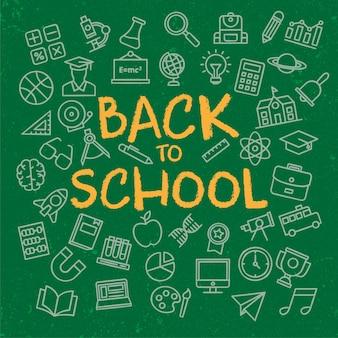 Grundlegende zurück zu schule hintergrund vorlage