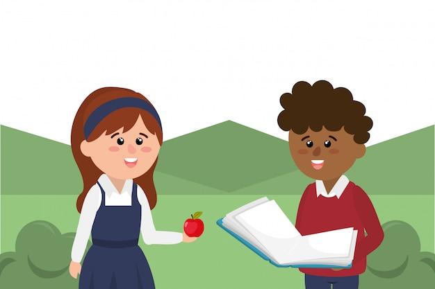 Grundschule cartoon
