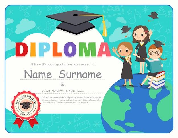 Grundschule kinder graduation