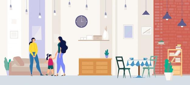Grundstücksmakler showing apartment zur käufer-ebene