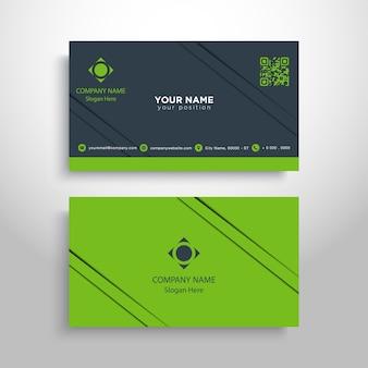 Grüne Visitenkarte