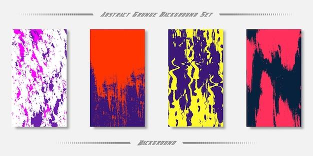 Grunge abstrakte textur-hintergrund-set