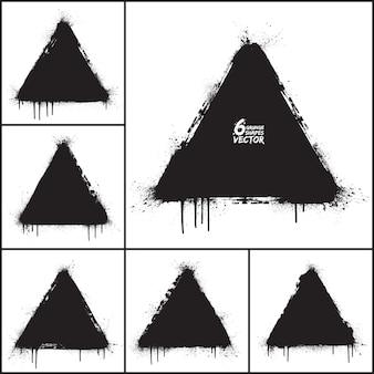 Grunge abstraktes dreieck formt vektor-set