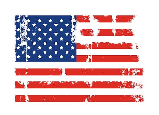 Grunge american flag style design