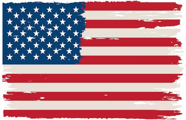 Grunge amerikanische flagge