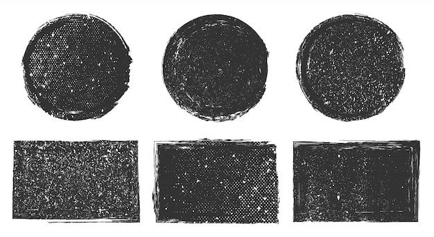 Grunge distressed briefmarken