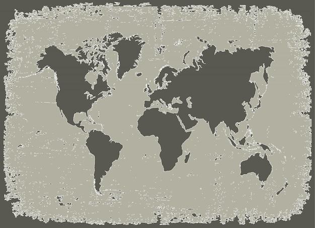 Grunge erde karte