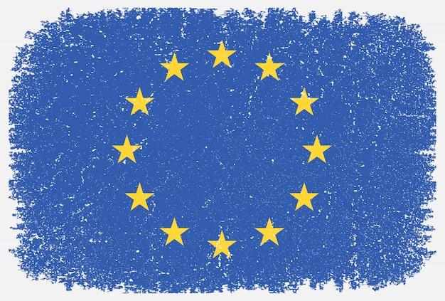 Grunge flagge der europäischen union