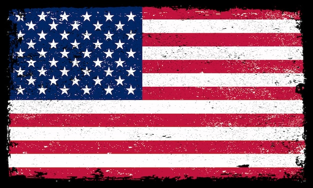 Grunge flagge der vereinigten staaten