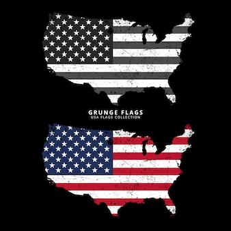 Grunge-flagge der vereinigten staaten