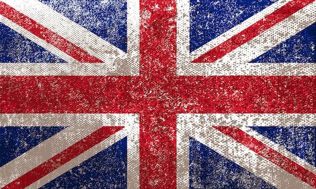 Grunge-flagge des vereinigten königreichs
