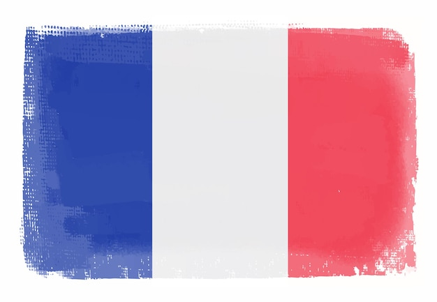 Grunge-flagge von frankreich