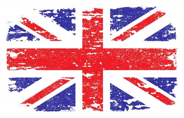 Grunge flagge von großbritannien