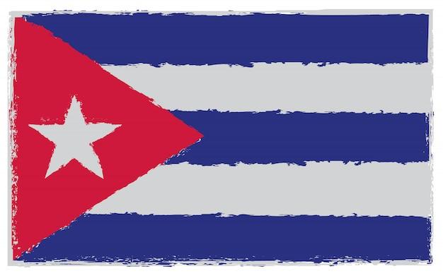 Grunge flagge von kuba