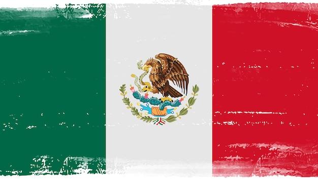 Grunge-flagge von mexiko