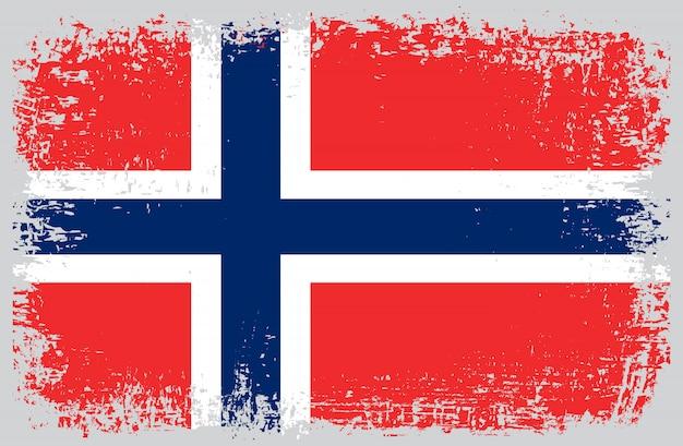 Grunge flagge von norwegen