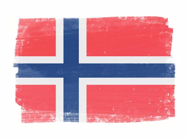 Grunge-flagge von norwegen