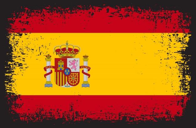 Grunge flagge von spanien
