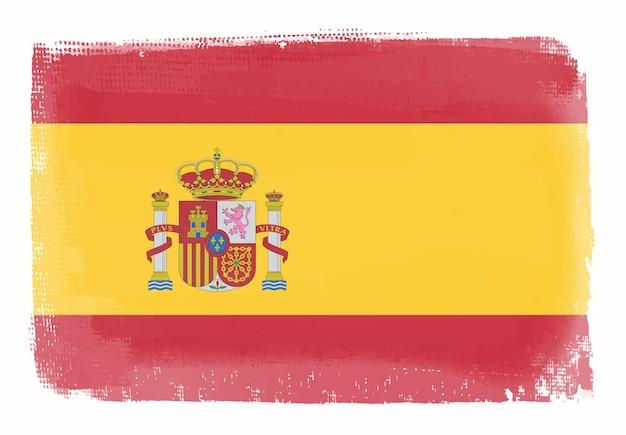 Grunge-flagge von spanien