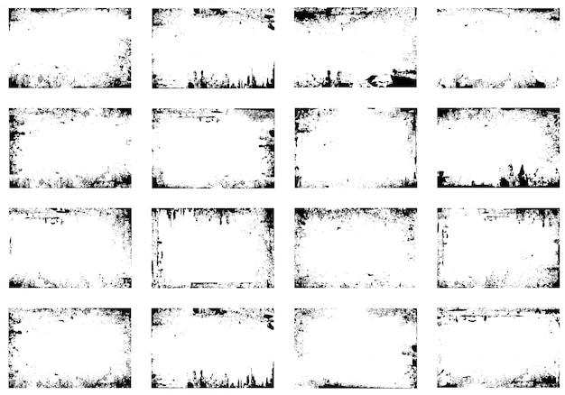 Grunge frame vector set