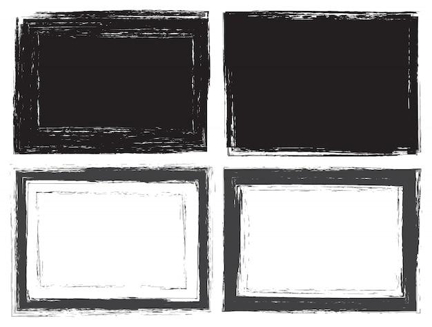 Grunge frames gesetzt