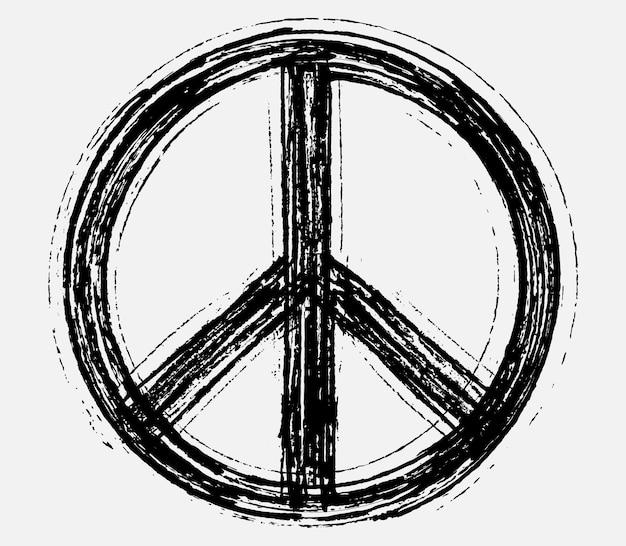 Grunge friedenssymbol