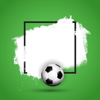 Grunge fußball / fußball hintergrund