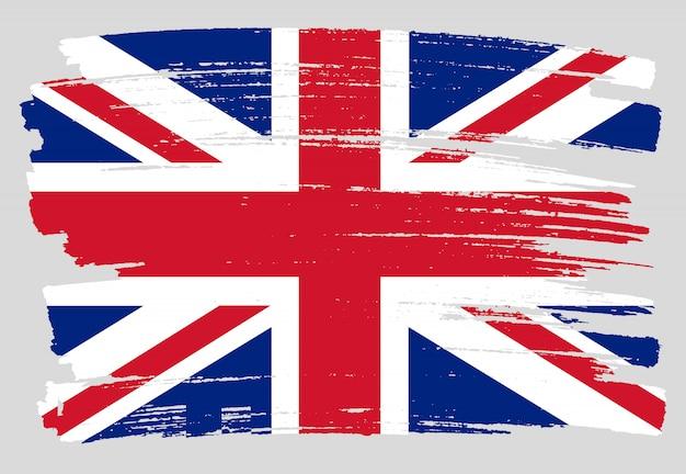 Grunge großbritannien flagge