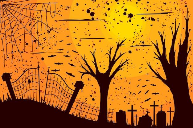 Grunge halloween hintergrund stil