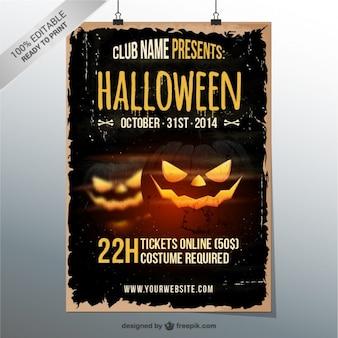 Grunge halloween-party-flyer