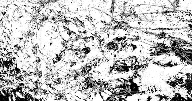 Grunge-hintergrund schwarz und weiß. monochrome textur. vektormuster von rissen, chips, schrammen. abstrakte vintage-oberfläche