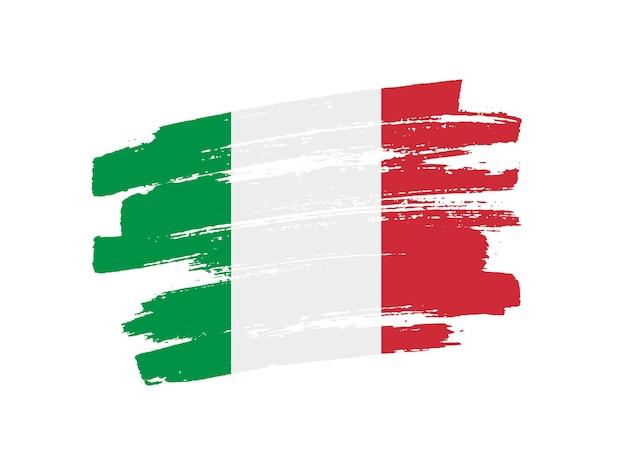 Grunge italienische flagge