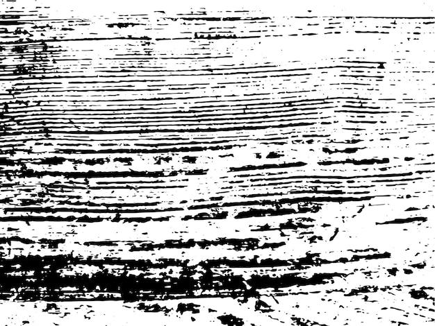 Grunge natürliche holz monochrome textur. abstrakter hölzerner oberflächenüberlagerungshintergrund in schwarzweiss. vektor-illustration